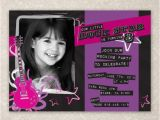 Rock Star Birthday Party Invitation Wording Rock Star Birthday Invite