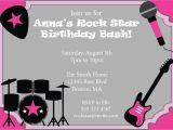 Rock Star Birthday Party Invitation Wording Rock Star Party Invitation Birthday Invite Girls Birthday Diy