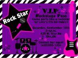 Rock Star Birthday Party Invitation Wording Rock Star Party Invitation Zebra Invitation Printable