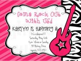 Rock Star Birthday Party Invitation Wording Rockstar Invitation Rockstar Party Rockstar Birthday