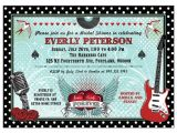 Rockabilly Birthday Invitations Bridal Shower Invitation Polka Dot Rockabilly Music