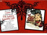 Rockabilly Birthday Invitations Cu1056 Rockabilly Birthday Invitation La S Birthday