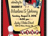 Rockabilly Birthday Invitations Rockabilly 1950 S Retro Bowling Engagement Party