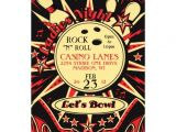 Rockabilly Birthday Invitations Rockabilly La S Party Bowling Invitation 13 Cm X 18 Cm