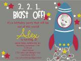 Rocket Ship Birthday Party Invitations Custom Rocket Ship Birthday Party Invitation by