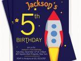 Rocket Ship Birthday Party Invitations Items Similar to Rocket Ship Birthday Invitation On Etsy