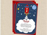 Rocket Ship Birthday Party Invitations Rocket Launch Space Ship Children 39 S Party Printable