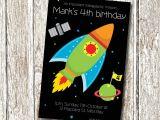 Rocket Ship Birthday Party Invitations Rocket Ship Birthday Invitation Printable and Personalised