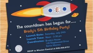 Rocket Ship Birthday Party Invitations Rocket Ship Birthday Party Invitation by eventfulcards