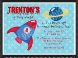 Rocket Ship Birthday Party Invitations Rocket Ship Personalized Party Invitation