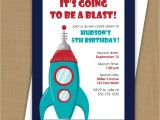 Rocket Ship Birthday Party Invitations Space Birthday Invitation Rocket Ship Invitation