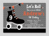 Roller Skating Invitations for Birthday Party Boys Skating Birthday Invitation Boys Roller Skating