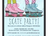 Roller Skating Invitations for Birthday Party Roller Skating Birthday Party Invitation