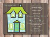 Room to Room Bridal Shower Invitations Aqua and Lime Green Polka Dots Couples Shower Housewarming