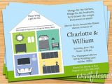 Room to Room Bridal Shower Invitations Around the House Wedding Couple Shower Invitation