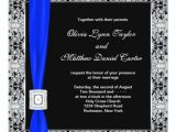 Royal Blue and Black Wedding Invitations Royal Blue Black Lace Wedding Invitation Zazzle