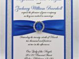 Royal Blue and Black Wedding Invitations Stunning Royal Blue Silver Glitter Wedding Invitation
