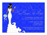 Royal Blue and Silver Bridal Shower Invitations Chic Royal Blue Silver Damask Here Comes the Bride 5×7