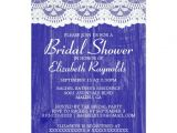 Royal Blue Bridal Shower Invitations Royal Blue Country Lace Bridal Shower Invitations Zazzle