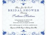 Royal Blue Bridal Shower Invitations Royal Blue White Damask Bridal Shower Invitation Zazzle