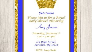 Royal Prince Baby Shower Invitations Prince Baby Shower Invitation Royal Prince Baby Shower