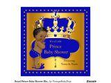 Royal Prince Baby Shower Invitations Royal Prince Baby Shower Blue Boy Crown Ethnic Invitation