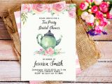 Royal Tea Party Invitation Template Printable Bridal Shower Invitations Free Premium Templates