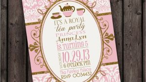 Royal Tea Party Invitation Wording Customized Wording Tea Party Invitation Royal Tea Party
