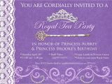 Royal Tea Party Invitation Wording Princess Tea Party Birthday Invitations Best Party Ideas
