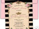 Royal Tea Party Invitation Wording Royal High Tea Birthday Invitation Shabby Chic by