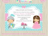 Royal Tea Party Invitation Wording Royal Tea Party Birthday Invitation Invite Knights and