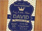 Royal themed Party Invitations Prince Birthday Invitation Royal Blue and Gold Birthday