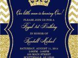 Royal themed Party Invitations Prince Birthday Party Invitation Royal Blue Gold Birthday