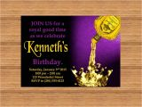 Royal themed Party Invitations Printable Custom Invitation Crown Royal themed Party