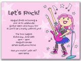 Rsvp Birthday Invitation Sample Invite Wording Rsvp Rockstar Party Pinterest