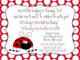 Rsvp Birthday Invitation Sample Ladybug 2nd Birthday Invitation Wording Font Rsvp