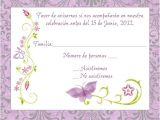 Rsvp Birthday Invitation Sample Purple Spanish butterfly Response Card Spanish Response