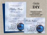 Rsvp Christmas Party Invitation Christmas Party Invitations with Rsvp Cards Diy Printable