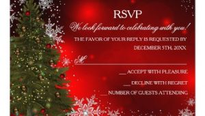 "Rsvp Christmas Party Invitation Festive Sparkle Xmas Tree Christmas Party Rsvp 3 5"" X 5"