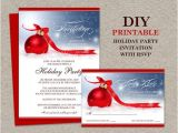 Rsvp Christmas Party Invitation Items Similar to Christmas Party Invitation with Rsvp Card