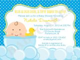 Rubber Duck Baby Shower Invites Rubber Ducky Baby Shower Invitation Diy Print Your Own