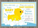 Rubber Ducky Baby Shower Invites Rubber Duck Baby Shower Invitation Rubber Ducky by