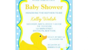 "Rubber Ducky Baby Shower Invites Rubber Ducky Baby Shower Invitations 5"" X 7"" Invitation"