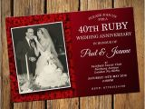 Ruby Wedding Anniversary Party Invitations 40th Ruby Wedding Anniversary Invitations No 9
