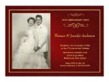 Ruby Wedding Anniversary Party Invitations Wedding Invitation Wording Ruby Wedding Anniversary