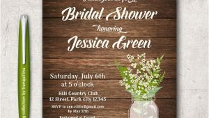 Rustic Bridal Shower Invitation Templates 14 Printable Bridal Shower Invitations Examples