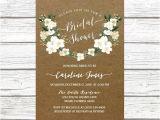 Rustic Bridal Shower Invitation Templates Printable Bridal Shower Invitations