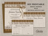 Rustic Bridal Shower Invitations with Matching Recipe Cards Rustic Bridal Shower Invitations with Matching Recipe