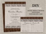 Rustic Bridal Shower Invitations with Recipe Cards Items Similar to Rustic Bridal Shower Invitation with