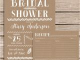 Rustic Bridal Shower Invitations with Recipe Cards Rustic Bridal Shower Invitation with Recipe Card Vintage